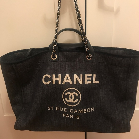 c432199c15d4 CHANEL Handbags - Chanel Deauville Grey Canvas Tote